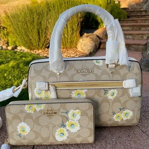 🎀Coach Rowan Satchel And Long wallet Set